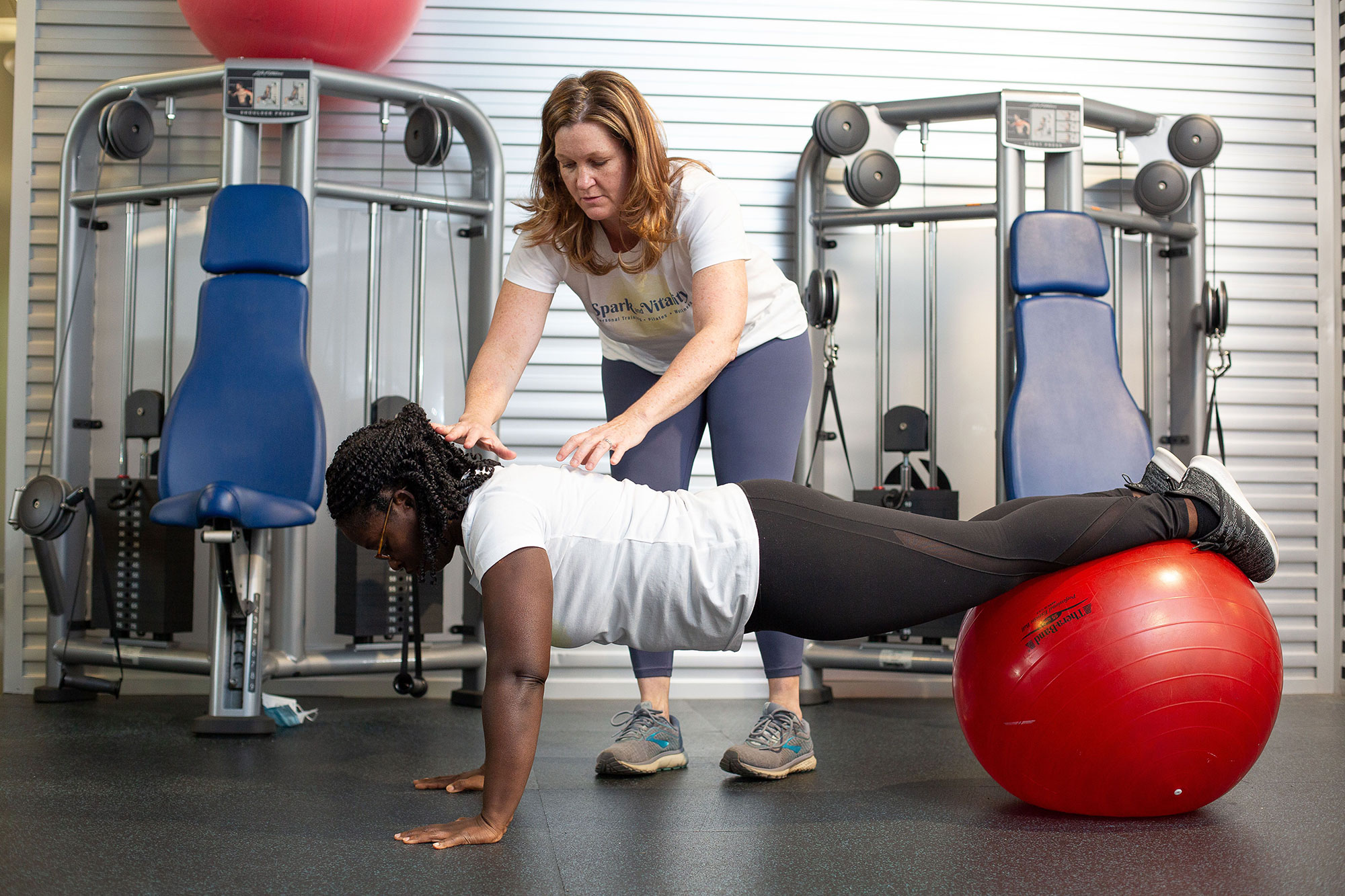 Personal training at Spark and Vitality, a Pennsylvania wellness company